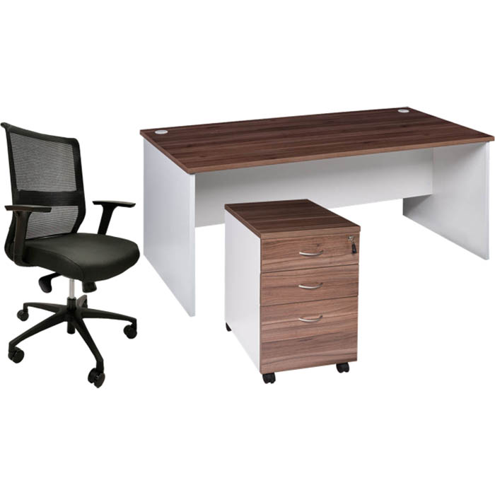 Image for OM PREMIER DESK PACKAGE CASNAN/WHITE from Challenge Office Supplies