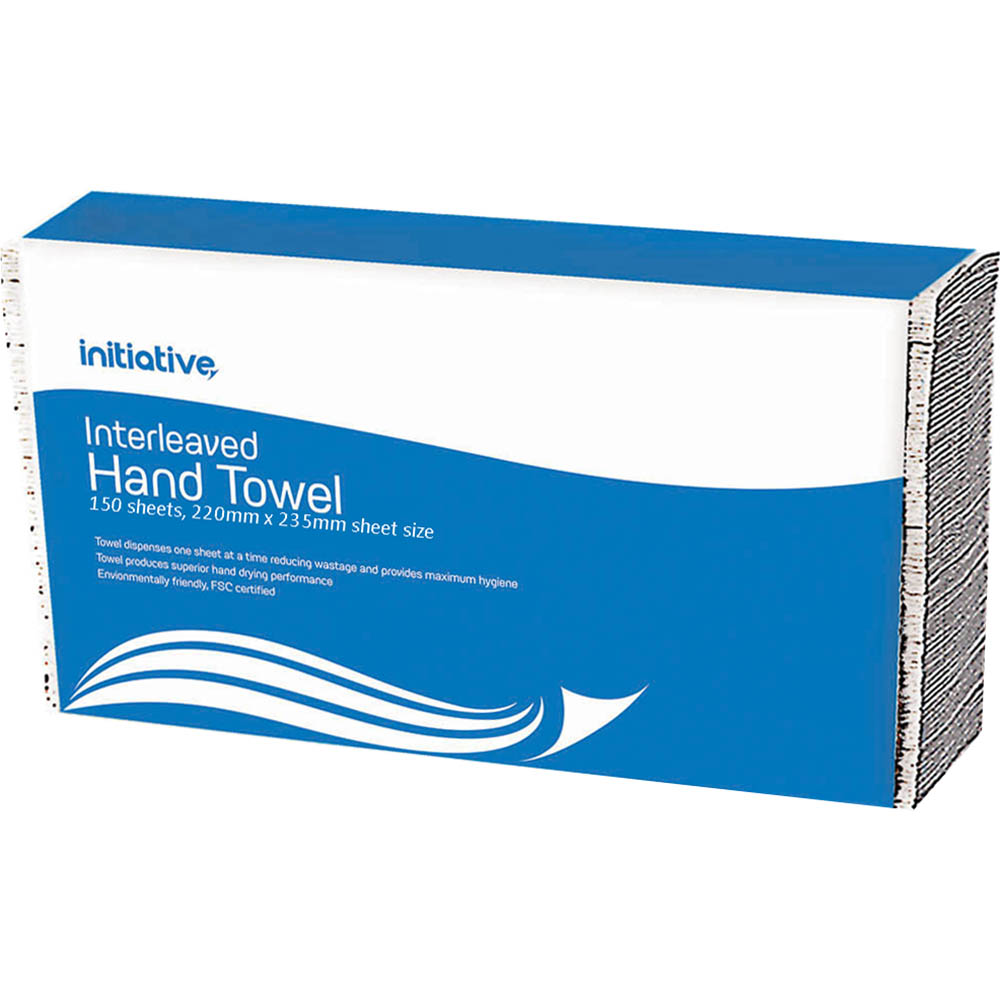 Image for INITIATIVE INTERLEAVED HAND TOWEL 220 X 235MM 150 SHEETS from ONET B2C Store