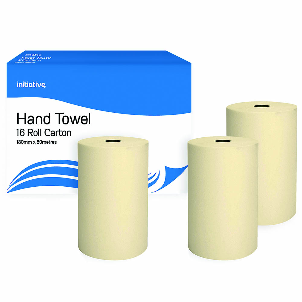 Image for INITIATIVE HAND TOWEL ROLL 180MM X 80M CARTON 16 from ONET B2C Store