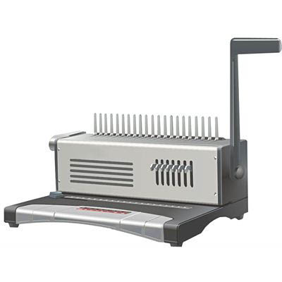Image for INITIATIVE MINS68 MANUAL BINDING MACHINE PLASTIC COMB GREY from Challenge Office Supplies
