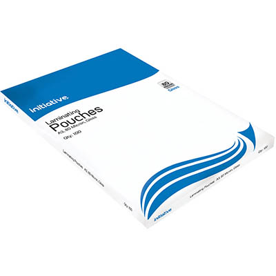 Image for INITIATIVE LAMINATING POUCH 80 MICRON A3 CLEAR PACK 100 from Challenge Office Supplies