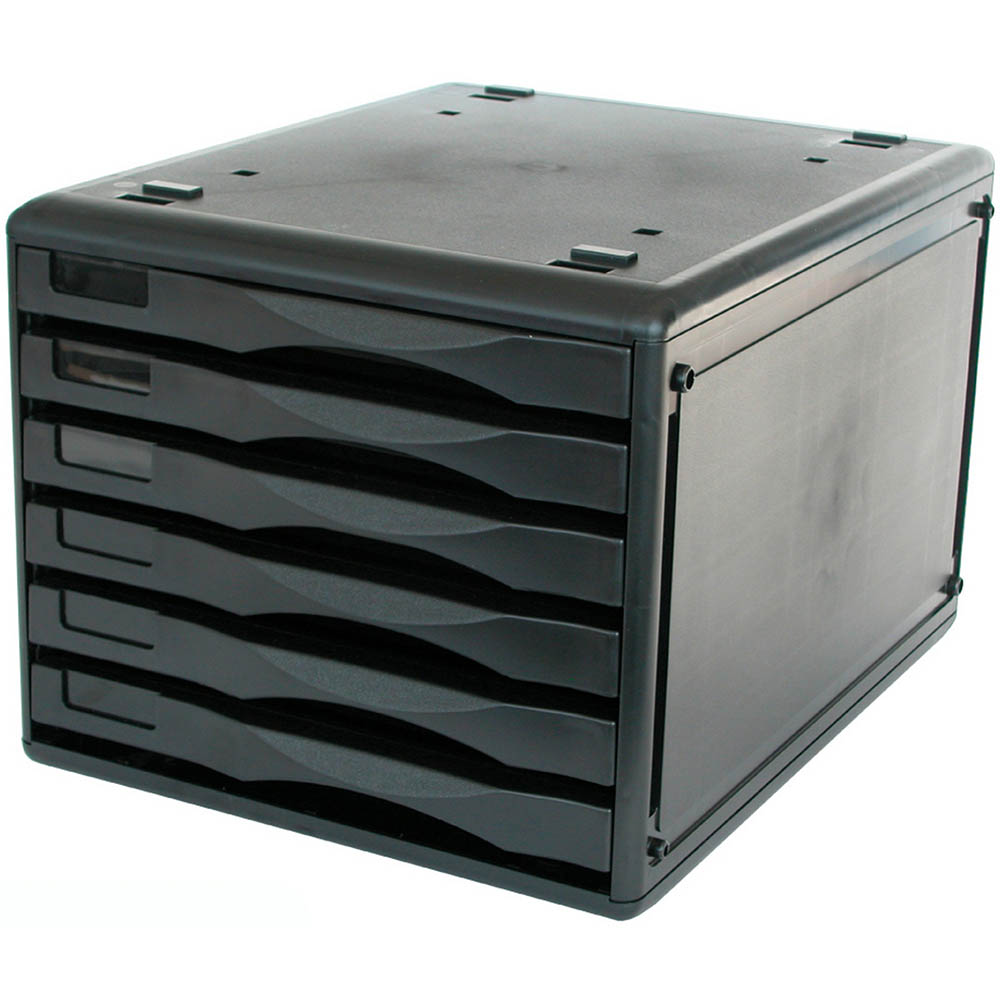 Image for METRO DESKTOP FILING 6 DRAWERS B4 BLACK from BusinessWorld Computer & Stationery Warehouse