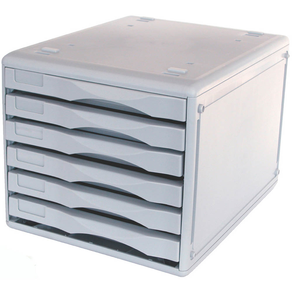 Image for METRO DESKTOP FILING 6 DRAWERS B4 LIGHT GREY from BusinessWorld Computer & Stationery Warehouse
