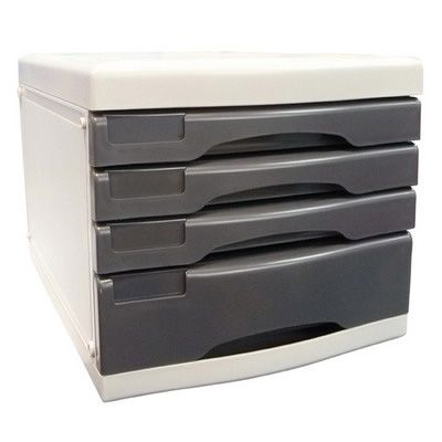 Image for METRO DESKTOP FILING 4 DRAWERS A4 GREY from BusinessWorld Computer & Stationery Warehouse