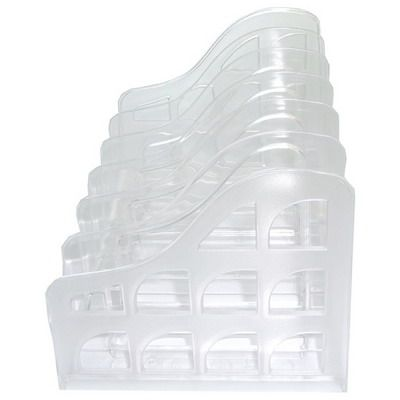 Image for METRO VERTICAL ORGANISER FILE SORTER SNOW/CRYSTAL from BusinessWorld Computer & Stationery Warehouse