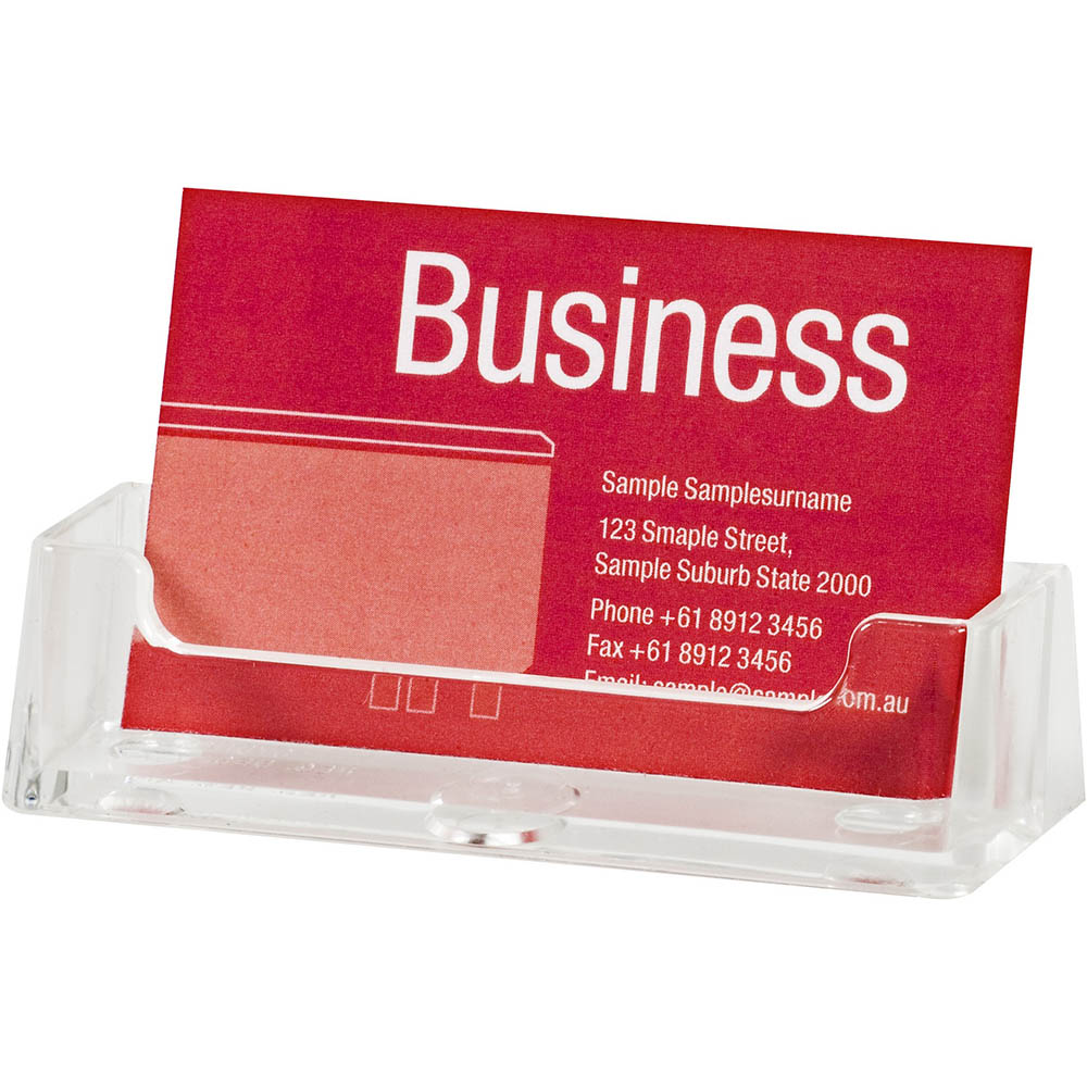 Image for ESSELTE BUSINESS CARD HOLDER LANDSCAPE CLEAR from BusinessWorld Computer & Stationery Warehouse