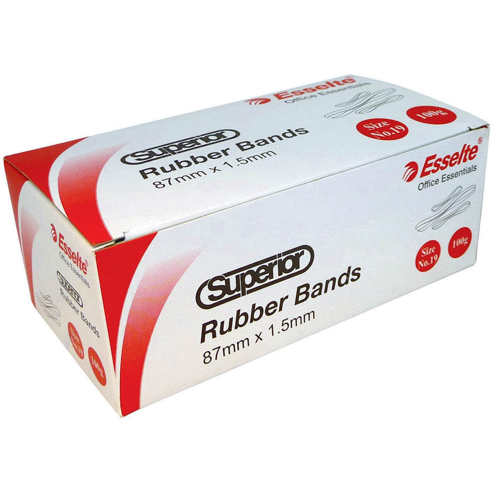 Image for ESSELTE SUPERIOR RUBBER BANDS SIZE 18 100G BOX from Holiday Coast Office