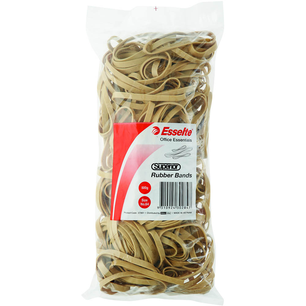 Image for ESSELTE SUPERIOR RUBBER BANDS SIZE 64 500G BAG from Holiday Coast Office