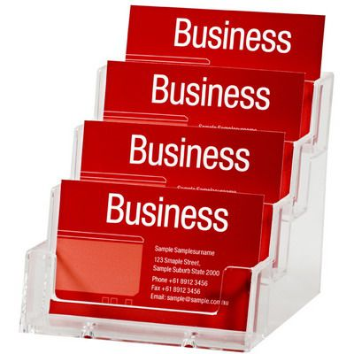 Image for ESSELTE BUSINESS CARD HOLDER LANDSCAPE 4 TIER CLEAR from BusinessWorld Computer & Stationery Warehouse