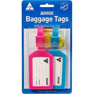 Image for KEVRON BAGGAGE TAGS ASSORTED PACK 2 from ONET B2C Store