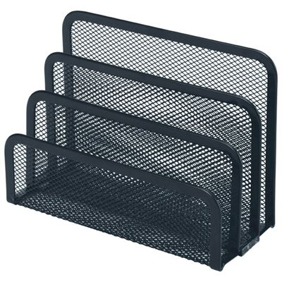 Image for ESSELTE MOULDED MESH VERTICAL ORGANISER FILE SORTER BLACK from Memo Office and Art