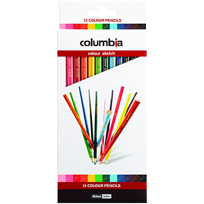 Image for COLUMBIA COLOURSKETCH COLOURED PENCILS ASSORTED PACK 12 from BusinessWorld Computer & Stationery Warehouse