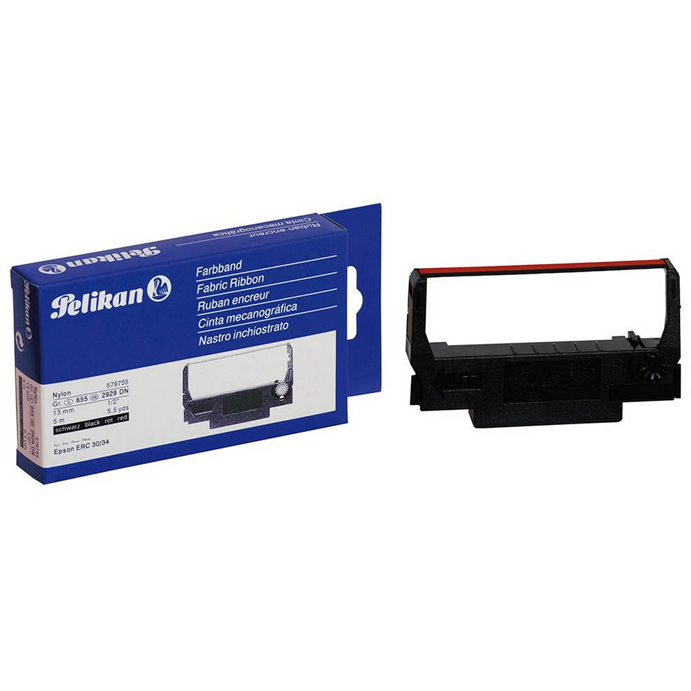 Image for PELIKAN COMPATIBLE EPSON ERC34/38 PRINTER RIBBON BLACK/RED from BusinessWorld Computer & Stationery Warehouse