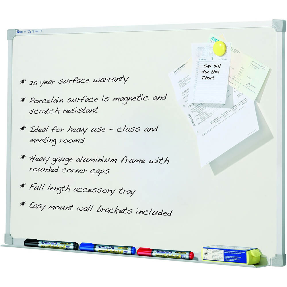 Image for QUARTET PENRITE PORCELAIN WHITEBOARD MAGNETIC 900 X 1500MM from ONET B2C Store