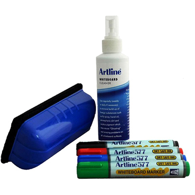 Image for ARTLINE 577 WHITEBOARD STARTER KIT INCL 4 MARKERS ASSORTED from ONET B2C Store