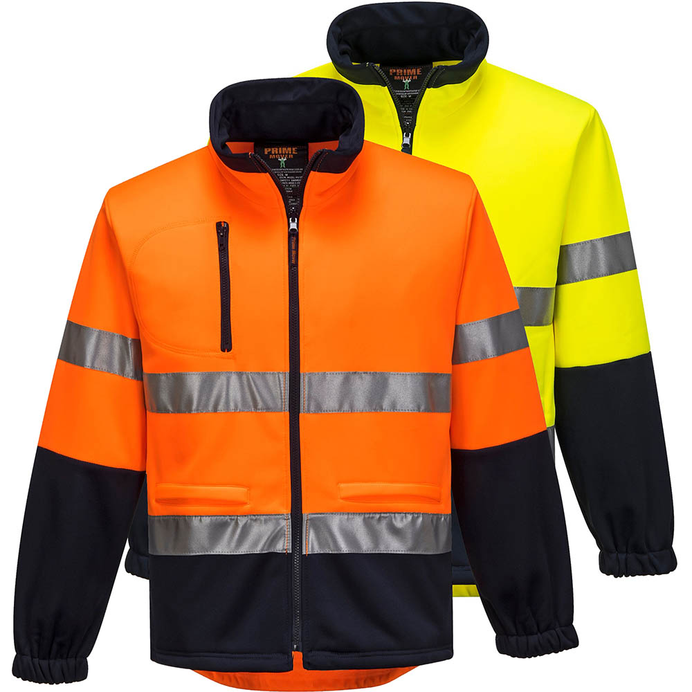 Image for PRIME MOVER MA315 HI VIS FLEECY JACKET WITH TAPE WATER REPELLANT 2 TONE from ONET B2C Store