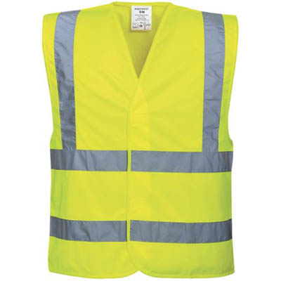 Image for PORTWEST C470 HI-VIS TWO BAND AND BRACE VEST from Devon Office Products