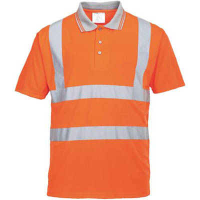 Image for PORTWEST RT22 HI-VIS POLO SHIRT SHORT SLEEVE from Devon Office Products