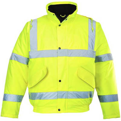 Image for PORTWEST S463 HI-VIS BOMBER JACKET from Mercury Business Supplies