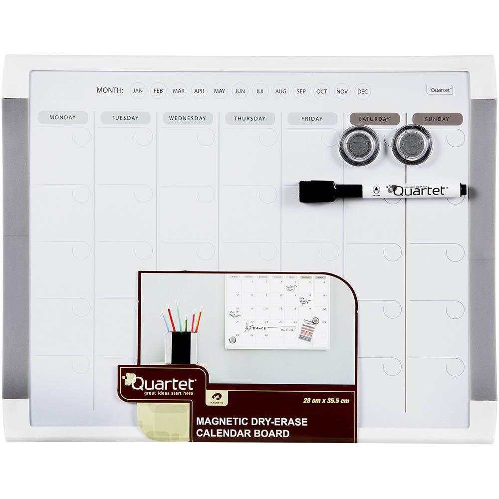 Image for QUARTET BASICS MONTHLY PLANNER BOARD 280 X 360MM WHITE FRAME from ONET B2C Store