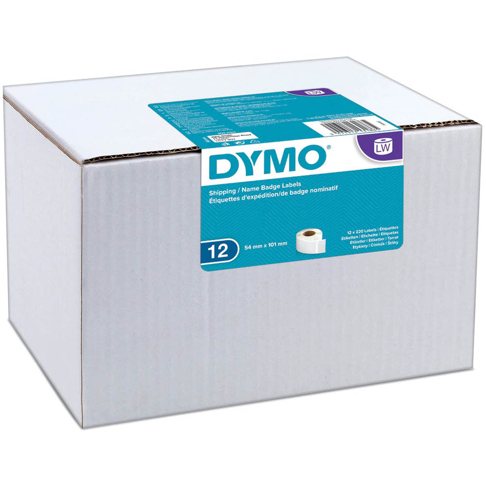 Image for DYMO 0722420 LW ADDRESS LABELS 54 X 101MM WHITE ROLL 220 BOX 12 from ONET B2C Store