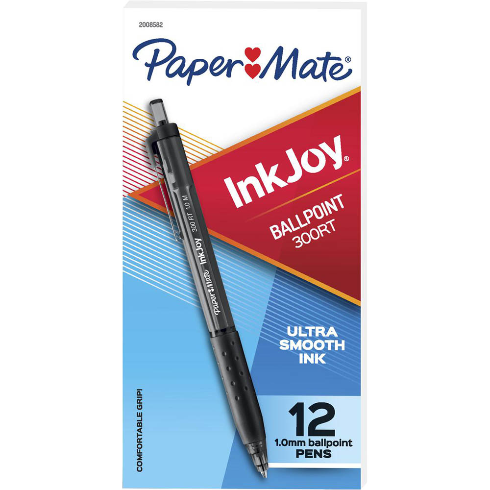 Image for PAPERMATE INKJOY 300 RETRACTABLE BALLPOINT PEN 1.0MM BLACK BOX 12 from BusinessWorld Computer & Stationery Warehouse