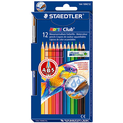 Image for STAEDTLER 144 NORIS CLUB AQUARELL WATERCOLOUR PENCILS ASSORTED BOX 12 from BusinessWorld Computer & Stationery Warehouse
