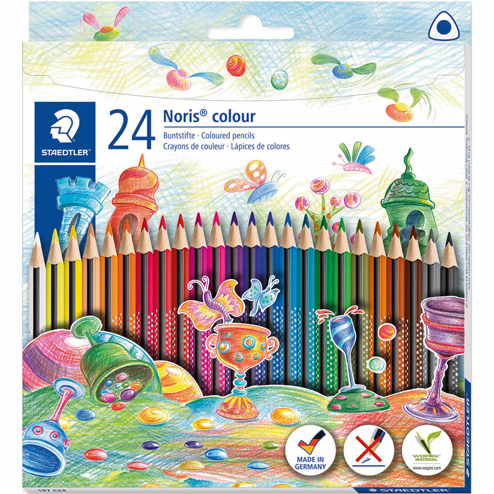 Image for STAEDTLER 187 NORIS COLOUR TRIANGULAR COLOURING PENCILS ASSORTED BOX 24 from BusinessWorld Computer & Stationery Warehouse