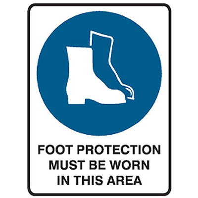 Image for TRAFALGAR MANDATORY SIGN FOOT PROTECTION 450 X 600MM from ONET B2C Store