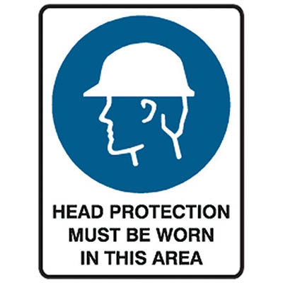 Image for TRAFALGAR MANDATORY SIGN HEAD PROTECTION 450 X 600MM from ONET B2C Store