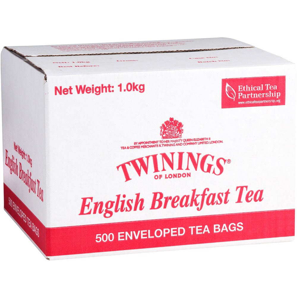 Image for TWININGS ENVELOPE TEA BAGS ENGLISH BREAKFAST CARTON 500 from ONET B2C Store