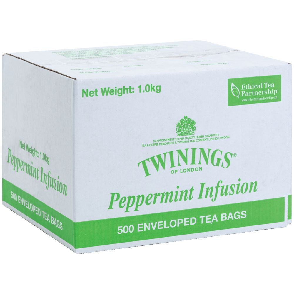 Image for TWININGS ENVELOPE TEA BAGS PEPPERMINT CARTON 500 from Mercury Business Supplies