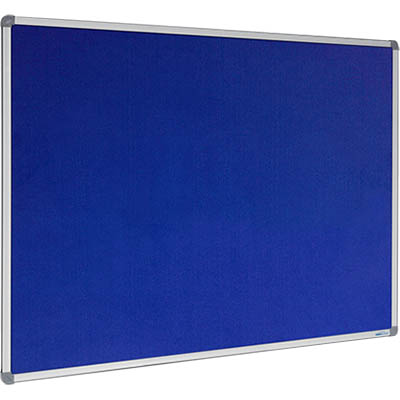 Image for VISIONCHART CORPORATE FELT PINBOARD ALUMINIUM FRAME 1200 X 900MM ROYAL BLUE from ONET B2C Store