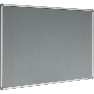 Image for VISIONCHART CORPORATE FELT PINBOARD ALUMINIUM FRAME 1200 X 900MM GREY from ONET B2C Store