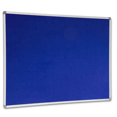 Image for VISIONCHART CORPORATE FELT PINBOARD ALUMINIUM FRAME 1500 X 1200MM ROYAL BLUE from ONET B2C Store