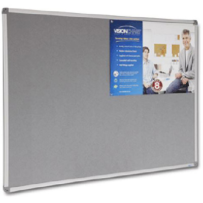 Image for VISIONCHART CORPORATE FELT PINBOARD ALUMINIUM FRAME 1500 X 1200MM GREY from ONET B2C Store