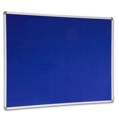 Image for VISIONCHART CORPORATE FELT PINBOARD ALUMINIUM FRAME 1800 X 1200MM ROYAL BLUE from ONET B2C Store