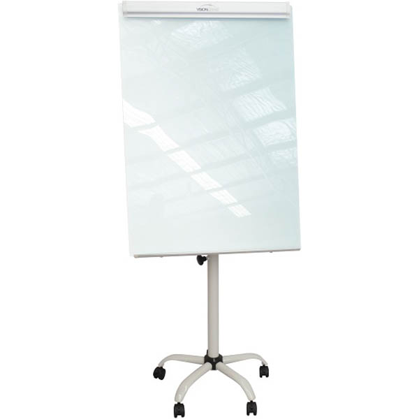 Image for VISIONCHART MAGNETIC GLASSBOARD FLIPCHART STAND 960 X 700MM from ONET B2C Store