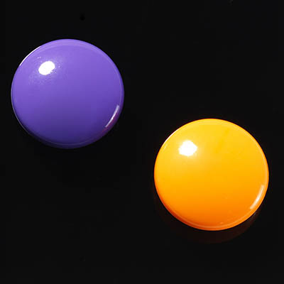 Image for NAGA GLASSBOARD SUPER STRONG MAGNETIC BUTTONS 30MM PURPLE/ORANGE PACK 2 from ONET B2C Store