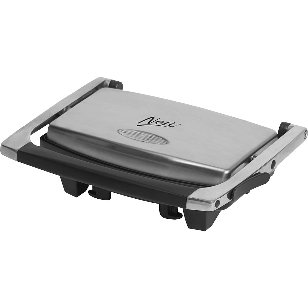 Image for NERO SANDWICH PRESS STAINLESS STEEL 2 SLICE ALUMINIUM / BLACK from ONET B2C Store