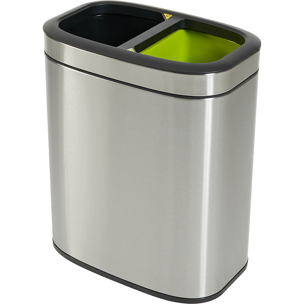 Image for COMPASS RECYCLING BIN RECTANGULAR STAINLESS STEEL 20L from ONET B2C Store