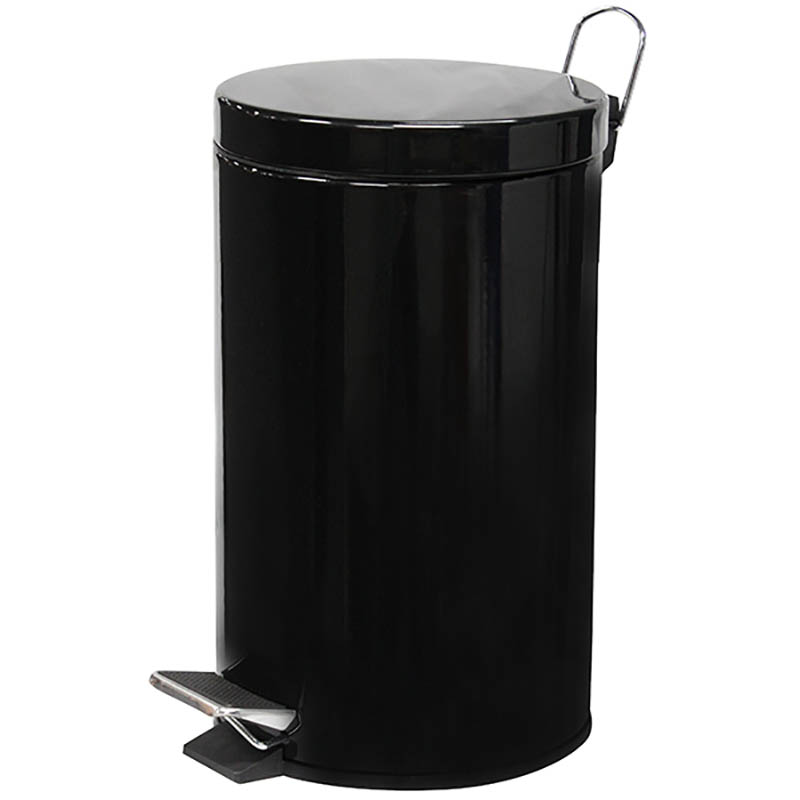 Image for COMPASS PEDAL BIN POWDER COATED 12L BLACK from ONET B2C Store