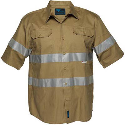 Image for PRIME MOVER MA909 COTTON DRILL SHIRT SHORT SLEEVE WITH TAPE from BusinessWorld Computer & Stationery Warehouse
