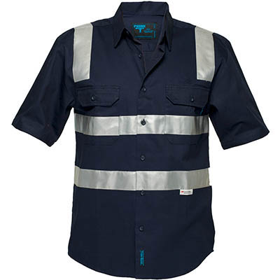 Image for PRIME MOVER MS909 COTTON DRILL SHIRT SHORT SLEEVE WITH TAPE OVER SHOULDER from BusinessWorld Computer & Stationery Warehouse