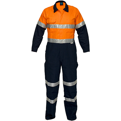 Image for PRIME MOVER MA931 REGULAR WEIGHT COVERALL WITH METAL STUD CLOSURE AND TAPE 2 TONE from Devon Office Products