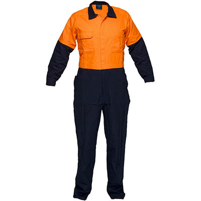 Image for PRIME MOVER MW931 REGULAR WEIGHT COVERALL WITH METAL STUD CLOSURE 2 TONE from Devon Office Products
