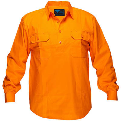Image for PRIME MOVER MC988 COTTON DRILL SHIRT LONG SLEEVE CLOSED FRONT from BusinessWorld Computer & Stationery Warehouse