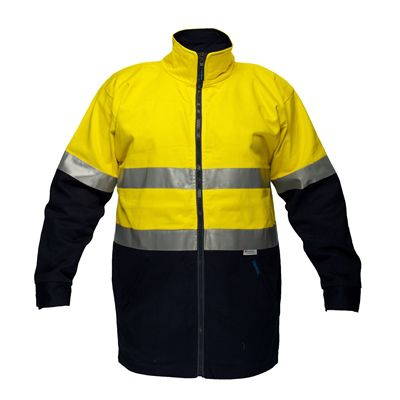 Image for PRIME MOVER MJ998 HI VIS JACKET COTTON DRILL DAY/NIGHT ZIP CLOSURE from Mercury Business Supplies