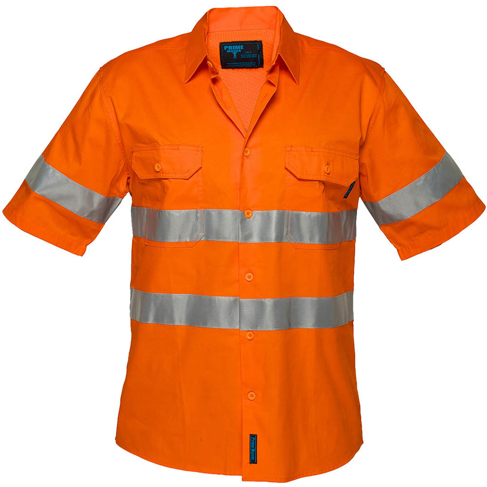 Image for PRIME MOVER MA302 LIGHTWEIGHT COTTON SHORT SLEEVE SHIRT WITH TAPE from BusinessWorld Computer & Stationery Warehouse