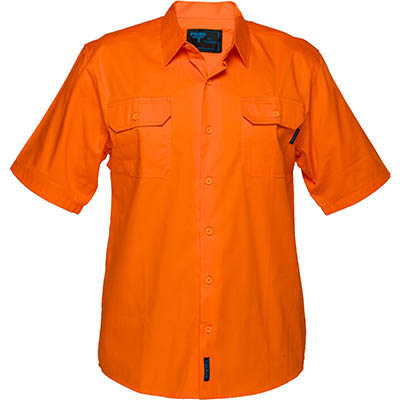 Image for PRIME MOVER MS302 COTTON DRILL SHIRT SHORT SLEEVE LIGHTWEIGHT ORANGE from BusinessWorld Computer & Stationery Warehouse